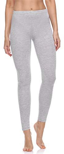 Merry Style Damen Lange Leggings aus Baumwolle MS10-198 (Melange, M)