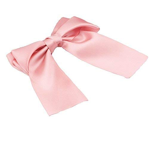 tyle Cute Satin Ribbon Bow Hair Clips Barrette (light Pink) by Homgaty ()