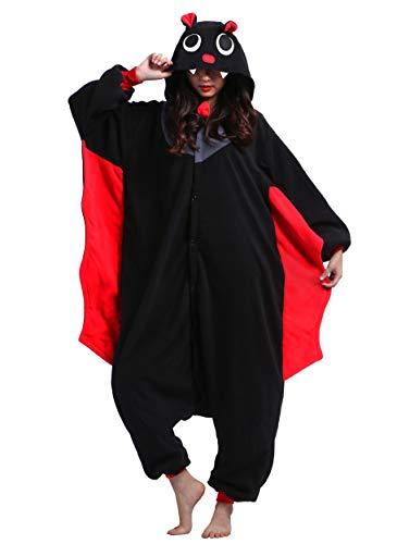 Kigurumi Pigiama Animali Adulto Unisex Pigiama Party Halloween Sleepwear Cosplay Costume Onesie, Pipistrello