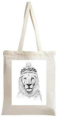Lion Is Ready For Winter 2 Tote Bag