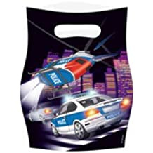 Police Officer Car Chase Party Loot Bags - pack of 8 - perfect for aspiring Police Officers