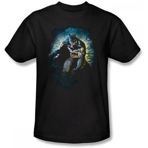 Batman - - Cueva de los Murciélagos Slim Fit Camiseta adulta En Negro