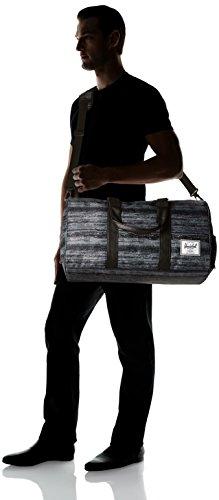 Herschel Novel Duffle, Bag, Tasche, 600D Poly, 00516, Black Crosshatch/Black White Noise
