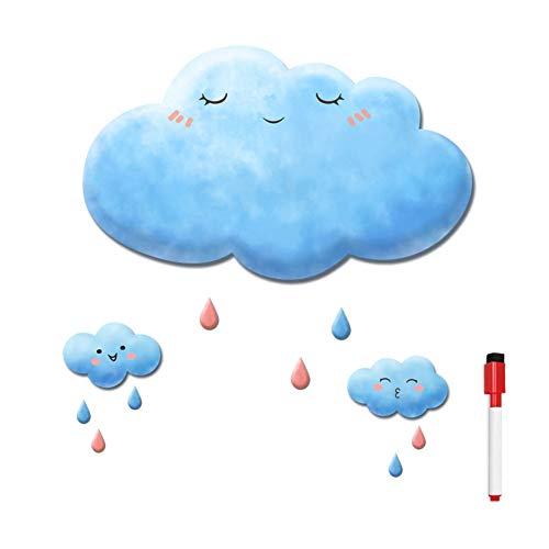 XM&ZF Cloud Magnetisches Kühlschrank Message Board,0.8mm dick Trocknen sie Erase Whiteboard Wandaufkleber Memo Cute Familie Hinweis Löschbar Für küche Office-blau