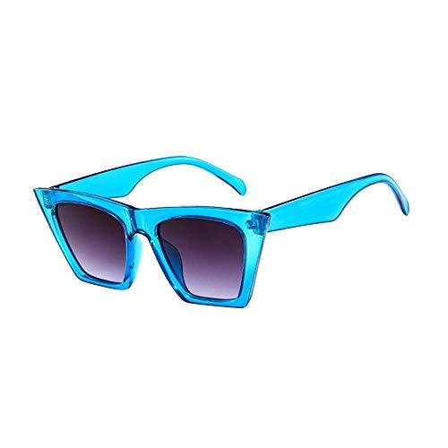 Balock Schuhe Mode Damen Oversized Übergroße Sonnenbrille Vintage Retro Mode Katzenauge Brille Sonnenbrille Damenbrillen Frauen Women Cat Eye Sunglasses Travel Eyewear (Blau)