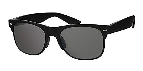 Sonnenbrille und gratis gelbe Halskordel, rutschfester, schwarzer Kunststoffrahmen