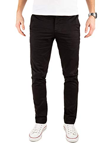 Yazubi Chino Herrenhosen schwarz - Kyle by Yzb Jeans Schwarze Hose - Business Stoff Hosen Chinohose Maenner Stretch, Schwarz (Black 4R194008), W34/L30 Herren Sexy Pants