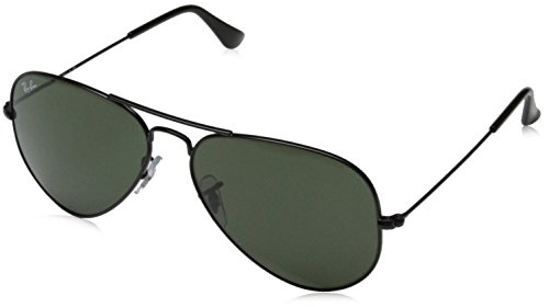 Ray-Ban RB3025 Aviator Occhiali da Sole Unisex Adulto, Nero (Schwarz L2823), 58 mm