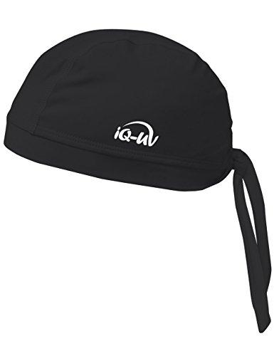 iQ-UV 300 Bandana, UV-Schutz Kopftuch, Black, M (57cm)