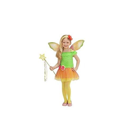 Widmann 0231F, Blumenfee Kostüm für Kleinkinder in Gr. 110 cm (3-4 Jahre) und 116 cm (4-5 Jahre) (Kostüme Elfen Kleinkind)