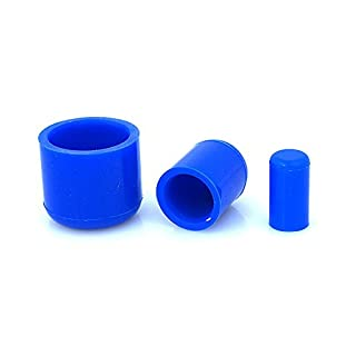 10 Pack (5 Pair) 8mm ID Blue Silicone End Caps - AutoSiliconeHoses