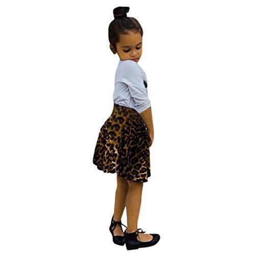 Mommy & Me Girls ärmelloser LeopardenmusterDruck Sling Family Trägerlose Röcke Mädchen Kinder Sommer Freizeit Kleid