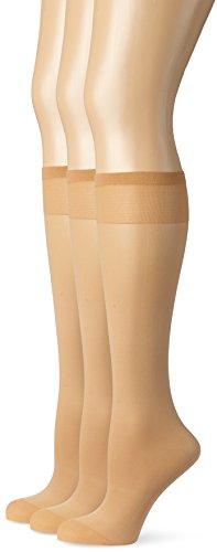 Ulla Popken Femme Grandes tailles Lot de 1 paire de mi-bas avec bord confort - 20 deniers - couleur peau chair 1Size 693278 26-1