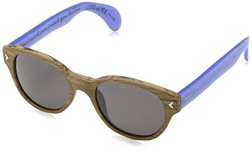 Lozza Herren Sonnenbrille Sl1913M Grau (LIGHT WALNUT WOOD EFFECT) Einheitsgröße