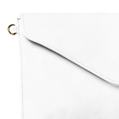 CASPAR TA310 Pochette de soirée pour femme Blanc