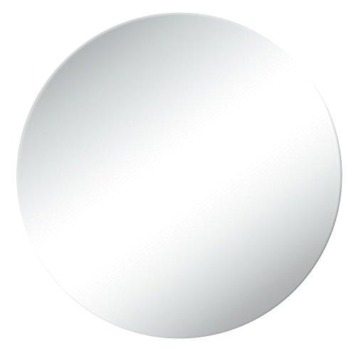 GUOWEI Spiegel An Der Wand Montiert Badezimmer Bilden Dressing Eitelkeit Rahmenlos Runden 4 Größe (Farbe : Silber, größe : 60x60cm) -