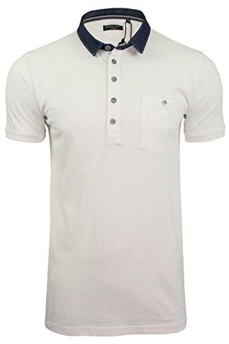 Brave Soul Herren Poloshirt 'Seaver' Kurzarm Weiß