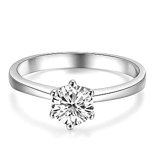 G/VS 0.30 Carat Round Diamond Solitaire Engagement Ring Crafted in