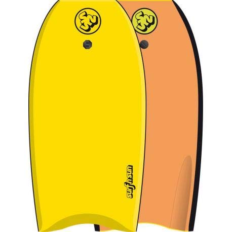 SURF & SUN Bodyboard Similar EPS 42' - Jaune et orange fluo