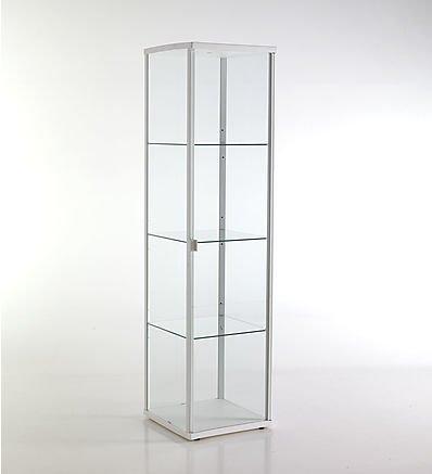 TOMASUCCI vetrina Wow White bianca scaffale in alluminio con vetro temprato 2520