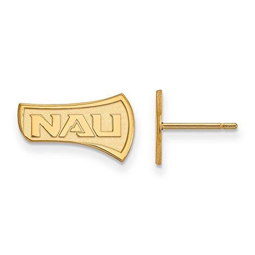 Lex & LU logoart Sterling Silber W/GP Northern Arizona Universität klein Post Ohrringe -
