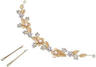Vogue Hair Accessories Golden Hairband & Hair Clip For Women …