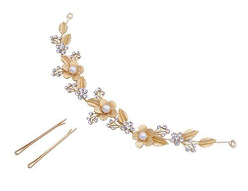 Vogue Hair Accessories Golden Hairband & Hair Clip For Women