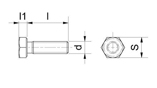 1 Stück PEEK Sechskantschrauben - M10x15 7 17