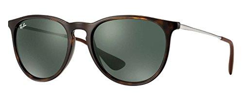 Ray Ban Unisex Sonnenbrille Erika, Gr. Medium (Herstellergröße: 54), Braun (Gestell: havana/gunmetal, Gläserfarbe: grün klassisch 710/71)