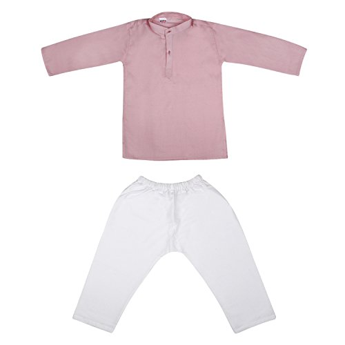 Littly Baby Boy's Ethnic Wear Cotton Khadi Kurta Pyjama