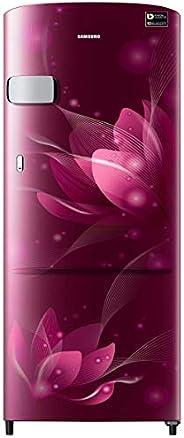Samsung 192 L 4 Star Inverter Direct Cool Single Door Refrigerator(RR20T1Y2XR8/HL, Blooming Saffron Red)