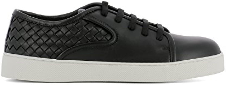 Bottega Veneta Herren 475167V00131000 Schwarz Leder Sneakers
