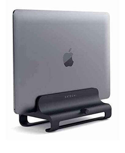 SATECHI Universaler Vertikaler Aluminium Laptop Ständer kompatibel mit MacBook, MacBook Pro, Dell XPS, Lenovo Yoga, Asus Zenbook, Samsung Notebook und weitere Modelle (Diamantschwarz)