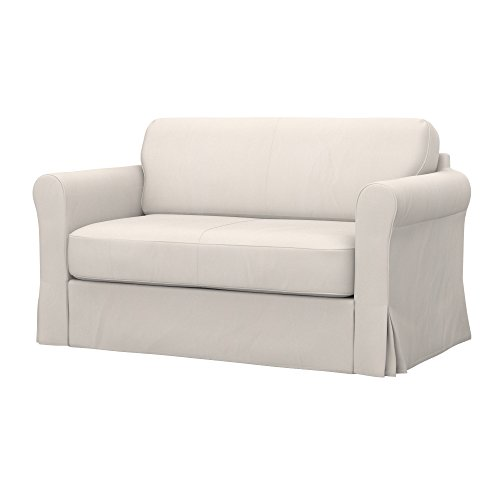 Soferia - IKEA HAGALUND Funda para sofá Cama, Eco Leather Light Beige
