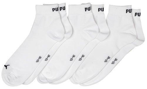 Puma Socken Quarter 3P Blanco (Weiss)