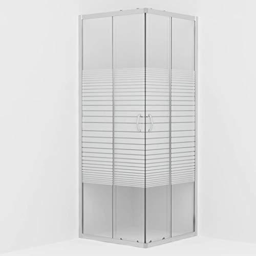 vidaXL Cabine de Douche Rectangulaire avec Porte Coulissante Salle d'Eau Salle de Bain Maison Intérieur Verre de Sécurité 70x70x185 cm