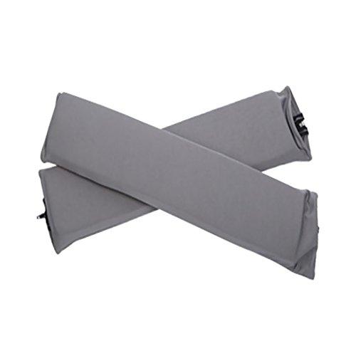 Sharplace 2 Stk. Elastische Armauflage, Armlehnen Polster, Ellenbogen Kissen für Drehstuhl Bürostuhl - Grau