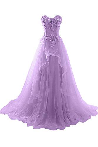 ivydressing damen romantisch herzform spitze abendkleider lang hochzeitskleid ballkleider lila. Black Bedroom Furniture Sets. Home Design Ideas
