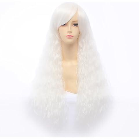 Parrucca Del Costume Di Lolita Lungo Ondulato Riccio Donne Calore Naturale Resistente Capelli Della Fibra Parrucche Cosplay