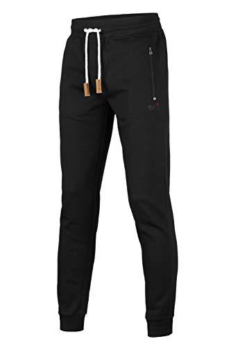 Mount Swiss Herren MS Hose, Finn, Black, Gr. 6XL / Lange Hose/Jogginghose/Sweatpants aus 100% Baumwolle