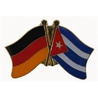 Yantec Freundschaftspin Deutschland-Kuba Pin Flagge