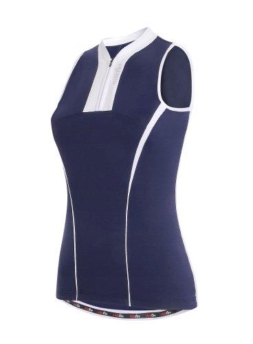 Fusion Radtrikot (zero rh+ Damen Radsporttrikot Fusion Woman Sleeveless Jersey Ärmelloses, blau, S, ECD0223-800-S)