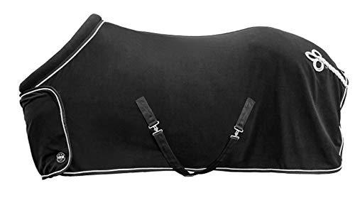 HKM Fleecedecke mit Kragen, Rückenlänge 155 cm, schwarz