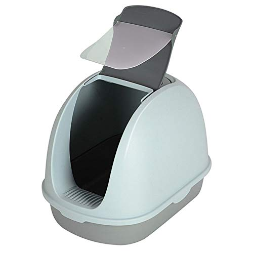 Katzen-Katzentoilette mit Deckel und Katzentoiletten-Schaufel-Design Schnell zu reinigen...