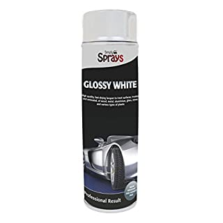 Simply SP-019 Car Glossy White Spray High Quality Fast-drying Lacquer for Use on Surfaces of Wood Metal Aluminium Glass Stone and Various Types of Plastic Non-fading and UV-resistant 500ML