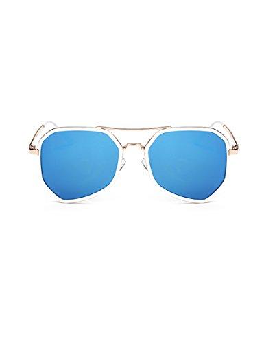Neue Farbe Film Dame Sonnenbrille Polygon Abnehmen Sonnenbrillen Unregelmäßig Frösche Spiegel verzieren Trendy Sonnenbrillen ( Farbe : 5 )