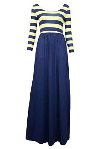 Dissa® SY60586 femme sexy Robe maxi Bleu foncé