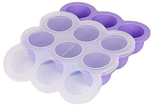 Conserve per alimenti per bambini in silicone, contenitore per congelatore, alimenti per bambini congelati a porzioni, contenitore di conservazione perfetto per alimenti per bambini fatti in casa