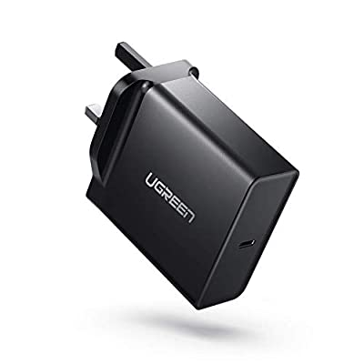 """UGREEN USB C Charger 65W PD Charger Type C Wall Charger Plug Fast USB Travel Charger Adapter for Macbook Pro 13"""", Macbook, Huawei Matebook X Pro, ASUS C302CA, Lenovo 720/920/900, iPhone XS Max etc"""