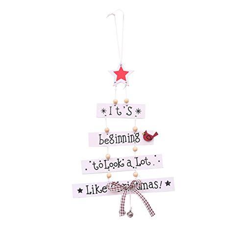Kongqiabona Wooden Christmas Ornaments Wooden Letters Christmas Tree Christmas Ornaments Hanging Xmas Decoration - Nightmare Before Christmas-schal